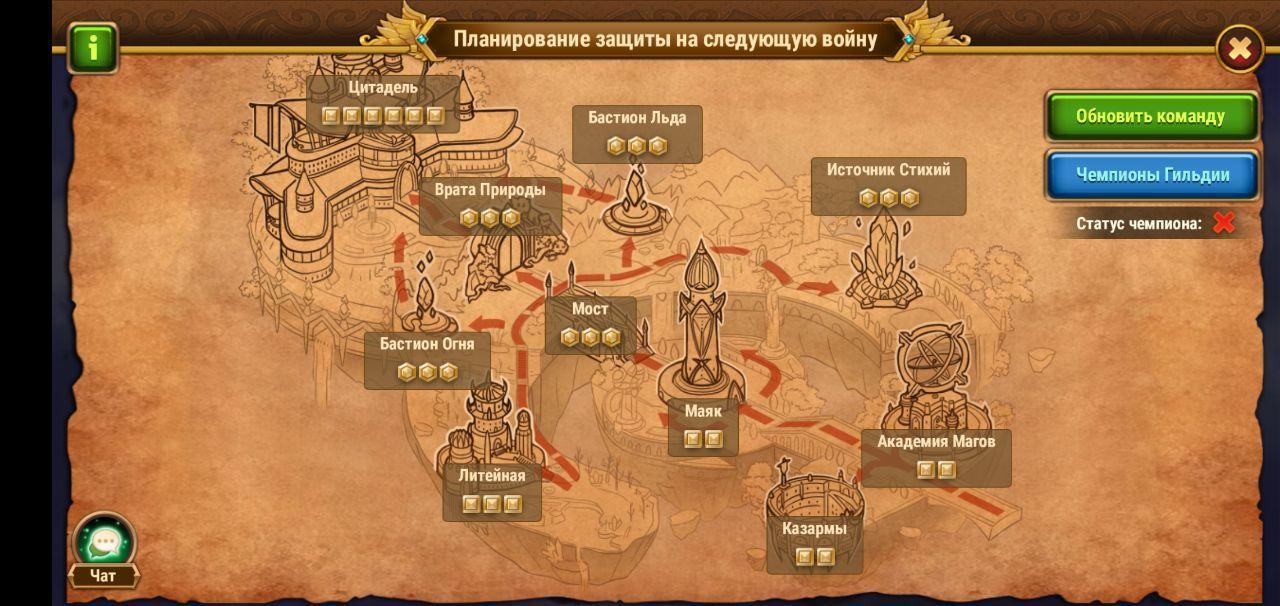 Карта расстановки
